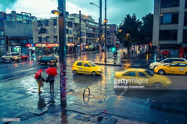 Bogota yellow cab