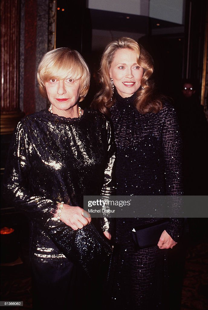 Bohemian writer Francoise Sagan is seen in this file photo at 'The Best 1993' party with Faye Dunaway in Paris on1993 in France Sagan died on the...