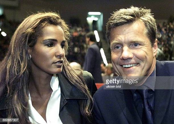 Bohlen Dieter Germany Musician Entertainer and his wife Nadja ab del Farag April 2000