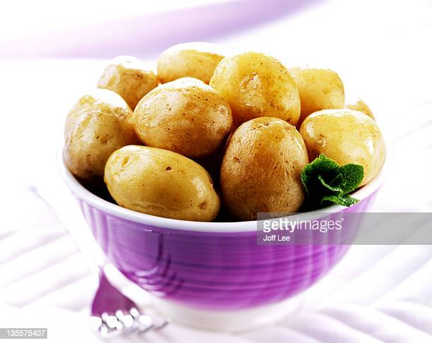 Boiled british new potatoes