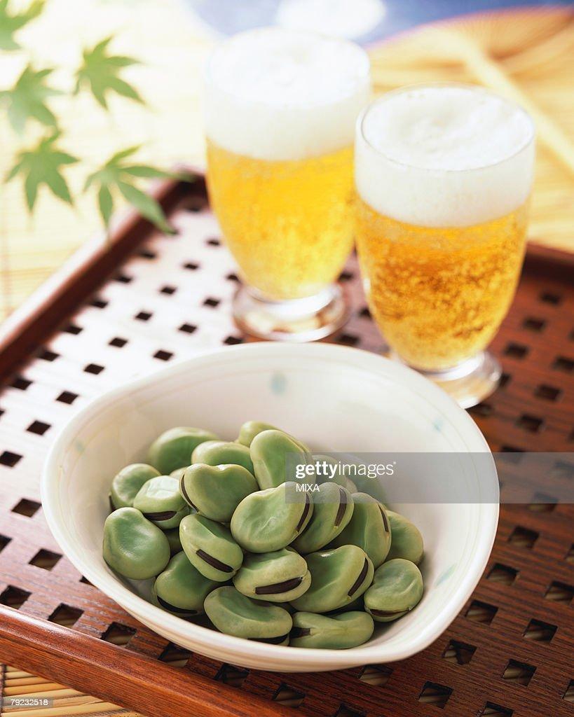 Boiled Broad bean : Stock Photo