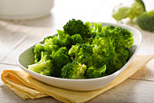 boiled broccoli in a bowl