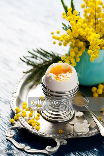 Boiled egg : Stock Photo