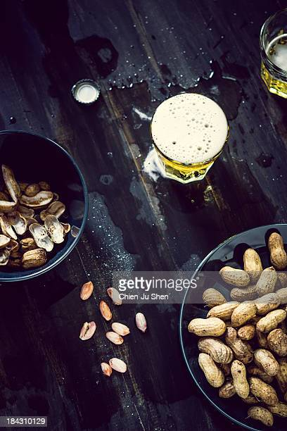 boiled peanuts and beer