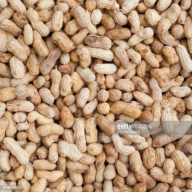 Boiled peanuts on sale at a market, Thailand