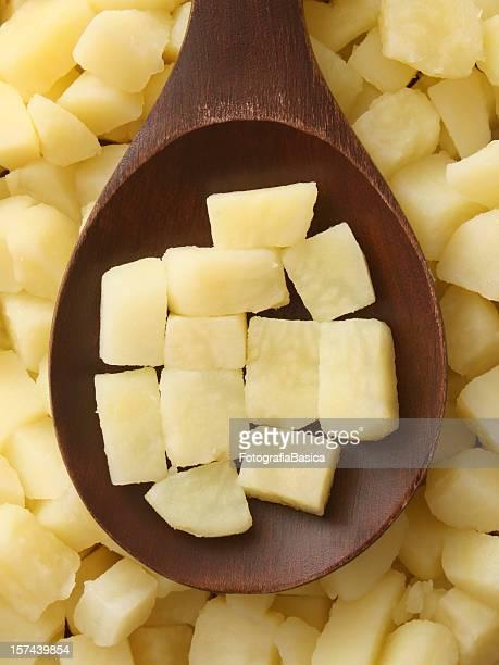 Boiled potato cubes