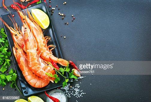 boiled shrimps : Stockfoto