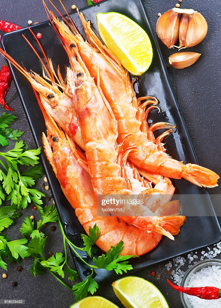 boiled shrimps : Stockfoto