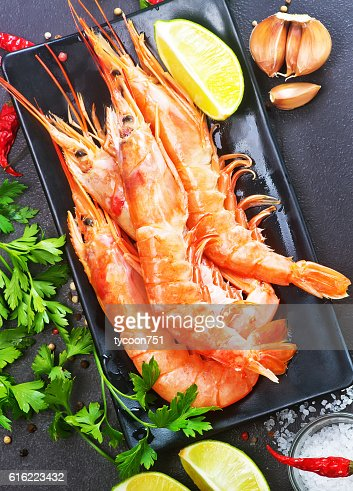 boiled shrimps : Bildbanksbilder