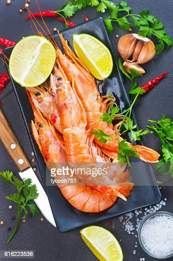 boiled shrimps : Stock Photo