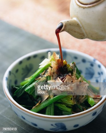 Boiled spinach : Stock Photo