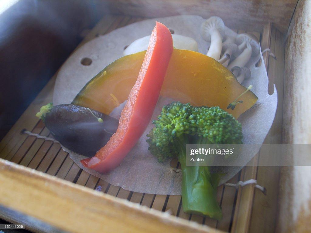 Boiledvegetables for breakfast : Stock Photo