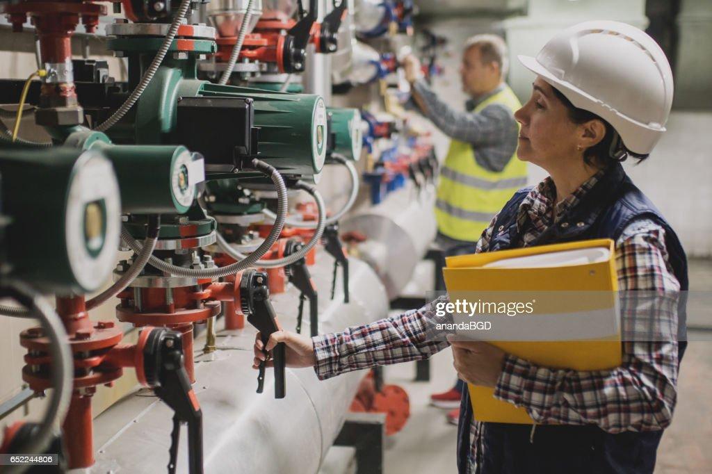 boiler room : Stock-Foto