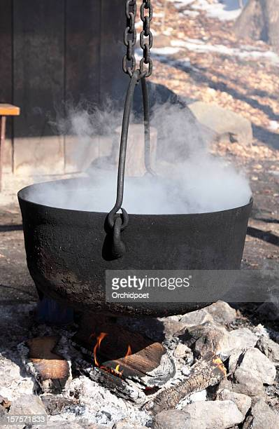 Boiling Maple Sugar Water