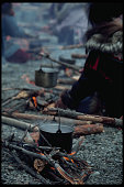Boiling Water on Campfire
