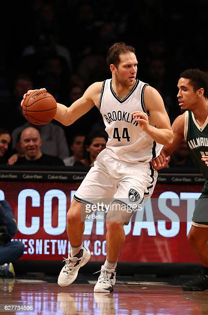 Bojan Bogdanovic of the Brooklyn Nets in action against the Milwaukee Bucks during their game at Barclays Center on December 1 2016 in New York City...