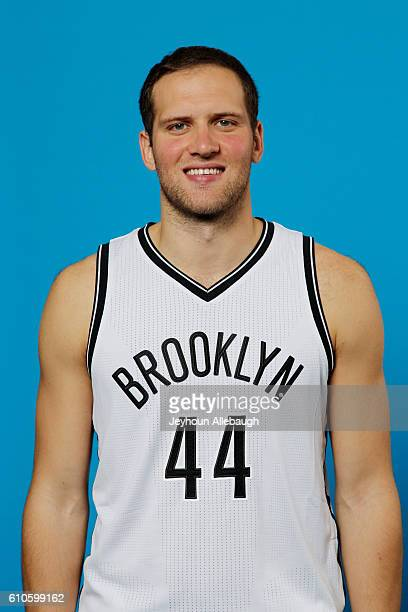 Bojan Bogdanovic of the Brooklyn Nets poses for a head shot during the 20162017 Brooklyn Nets Media Day on September 26 2016 at the HSS Training...