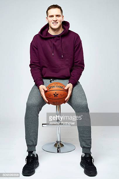 Bojan Bogdanovic of the Brooklyn Nets poses for a portrait on February 11 2016 at the Sheraton Centre in Toronto Ontario Canada NOTE TO USER User...