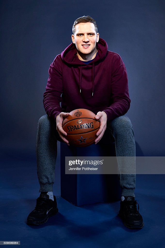 Bojan Bogdanovic of the Brooklyn Nets poses for a portrait on February 11, 2016 at the Sheraton Centre in Toronto, Ontario Canada.