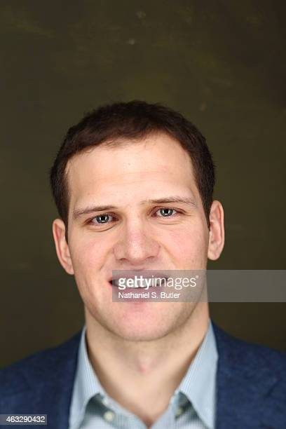Bojan Bogdanovic of the Brooklyn Nets poses for portraits during the NBAE Circuit as part of 2015 AllStar Weekend at the Sheraton Times Square Hotel...
