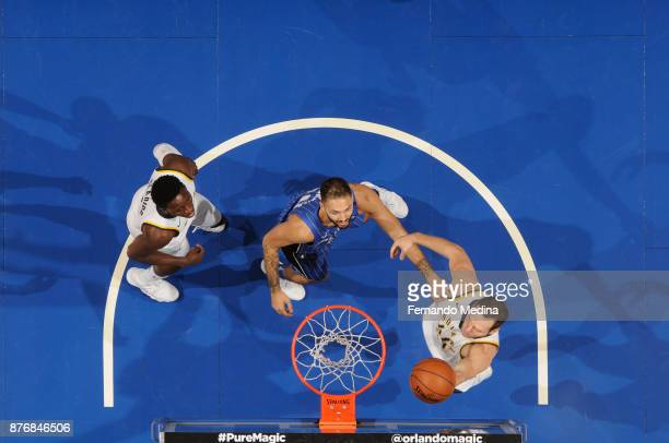 Bojan Bogdanovic of the Indiana Pacers shoots the ball against the Orlando Magic on November 20 2017 at Amway Center in Orlando Florida NOTE TO USER...