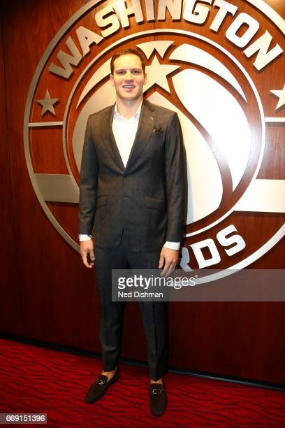Bojan Bogdanovic of the Washington Wizards poses for a picture before the game against the Atlanta Hawks during the Eastern Conference Quarterfinals...