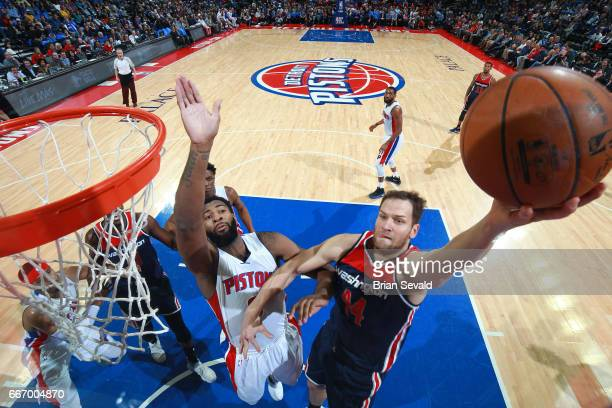 Bojan Bogdanovic of the Washington Wizards stb against the Detroit Pistons on April 10 2017 at The Palace of Auburn Hills in Auburn Hills Michigan...