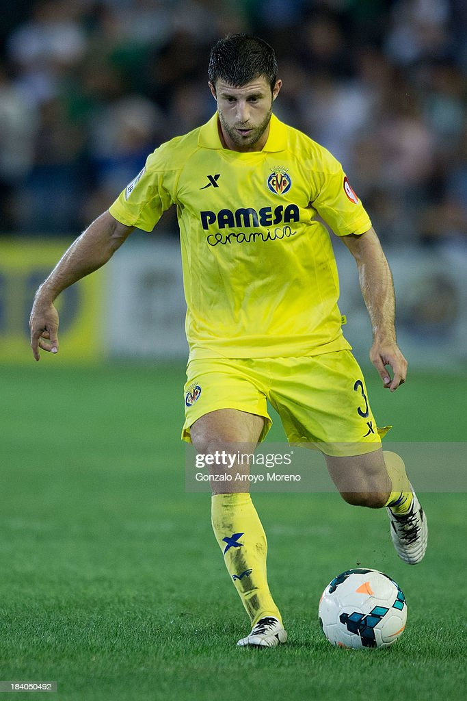 <a gi-track='captionPersonalityLinkClicked' href=/galleries/search?phrase=Bojan+Jokic&family=editorial&specificpeople=4209230 ng-click='$event.stopPropagation()'>Bojan Jokic</a> of Villarreal CF controls the ball during the La Liga match between Real Betis Balompie and Villarreal CF at Estadio Benito Villamarin on September 29, 2013 in Seville, Spain.