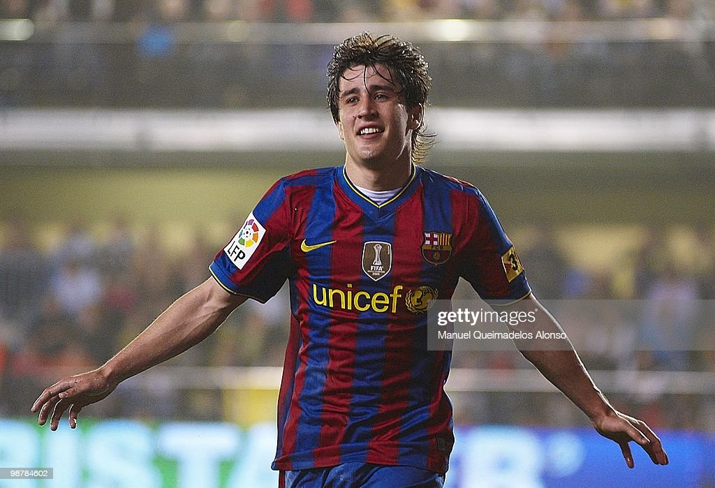 <a gi-track='captionPersonalityLinkClicked' href=/galleries/search?phrase=Bojan+Krkic&family=editorial&specificpeople=4285657 ng-click='$event.stopPropagation()'>Bojan Krkic</a> of FC Barcelona celebrates after scoring during the La Liga match between Villarreal CF and FC Barcelona at El Madrigal stadium on May 1, 2010 in Villarreal, Spain.