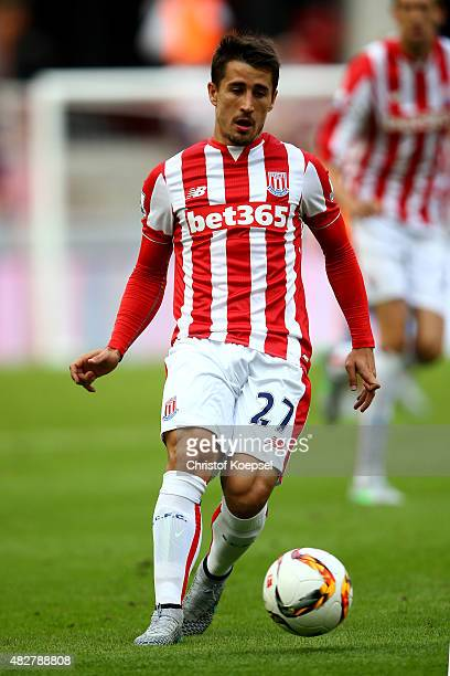 Bojan Krkic of Stoke City runs with the ball during the Colonia Cup 2015 match between FC Porto and Stoke City FC at RheinEnergieStadion on August 2...