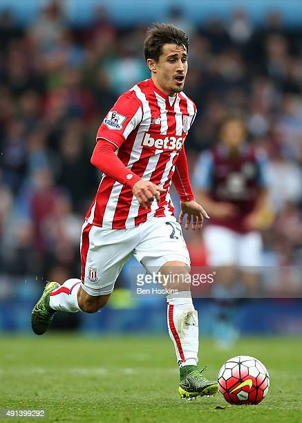 Bojan Krkic of Stoke in action during the Barclays Premier League match between Aston Villa and Stoke City at Villa Park on October 3 2015 in...