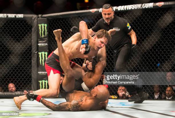 Bojan Velickovic knocks out Nico Musoke during the UFC Fight Night event at Ericsson Globe on May 28 2017 in Stockholm Sweden