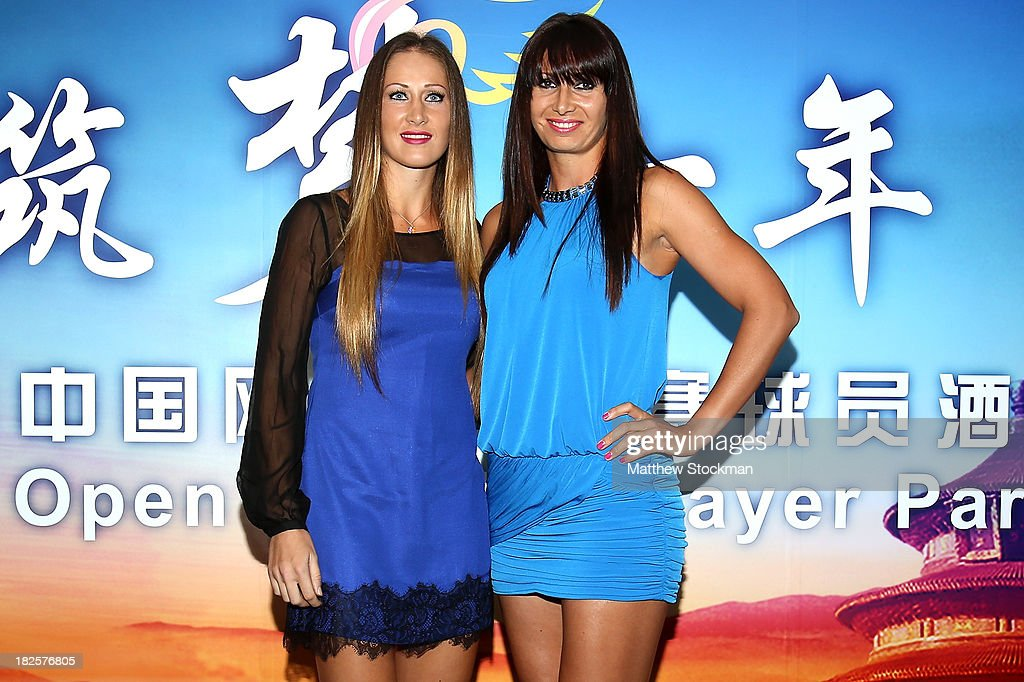 <a gi-track='captionPersonalityLinkClicked' href=/galleries/search?phrase=Bojana+Jovanovski&family=editorial&specificpeople=4836646 ng-click='$event.stopPropagation()'>Bojana Jovanovski</a> of Serbia and <a gi-track='captionPersonalityLinkClicked' href=/galleries/search?phrase=Darija+Jurak&family=editorial&specificpeople=3047172 ng-click='$event.stopPropagation()'>Darija Jurak</a> of Croatia arrive on the red carpet before the player party for the 2013 China Open at the InterContinental Hotel Beijing Beichen on September 30, 2013 in Beijing, China.