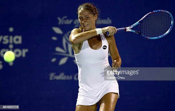 Bojana Jovanovski of Serbia in action during day one of the BMW Malaysian Open at Royal Selangor Club on March 2 2015 in Kuala Lumpur Malaysia