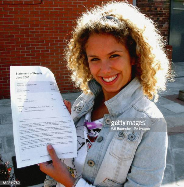 Bojana Kozarevic from Serbia who achieved the best GCSE results at Broadgreen High School in Liverpool despite not learning English until she was...