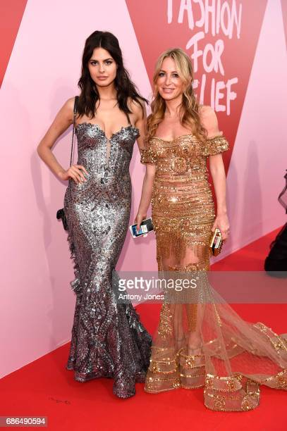Bojana Krsmanovic and Yasemin Taciroglu attend the Fashion for Relief event during the 70th annual Cannes Film Festival at Aeroport Cannes Mandelieu...