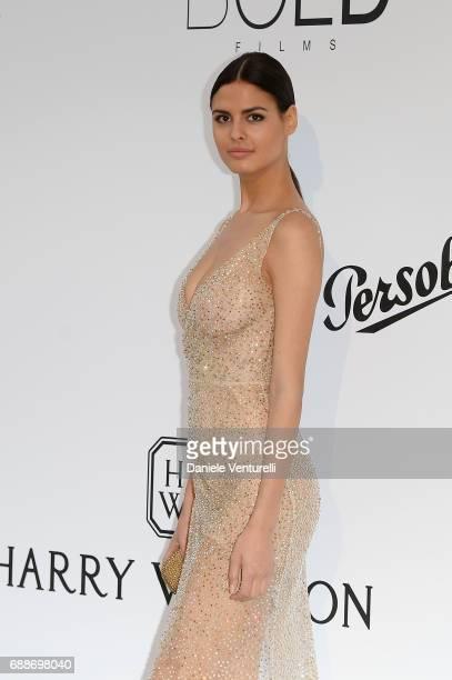 Bojana Krsmanovic arrives at the amfAR Gala Cannes 2017 at Hotel du CapEdenRoc on May 25 2017 in Cap d'Antibes France