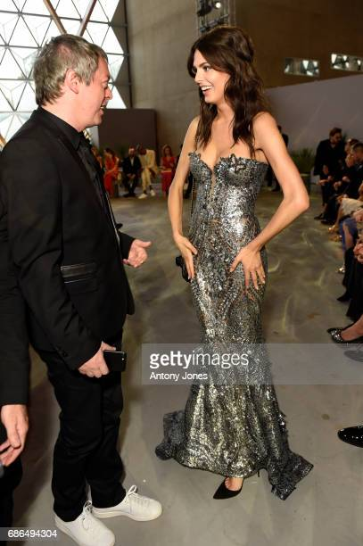 Bojana Krsmanovic attends the Fashion for Relief event during the 70th annual Cannes Film Festival at Aeroport Cannes Mandelieu on May 21 2017 in...