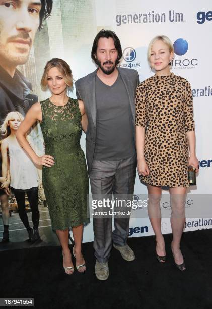 Bojana Novakovic Keanu Reeves and Adelaide Clemens attend the 'Generation Um' Los Angeles premiere presented by GenArt and Phase 4 Films held at the...