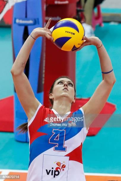 Bojana Zivkovic of Serbia during 2017 Nanjing FIVB World Grand Prix Finals between Brazil and Serbia on August 5 2017 in Nanjing China