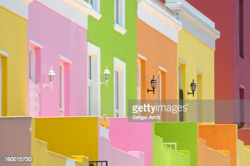 Bo-Kaap, The Cape Malay Quarter, Cape Town : Stock Photo