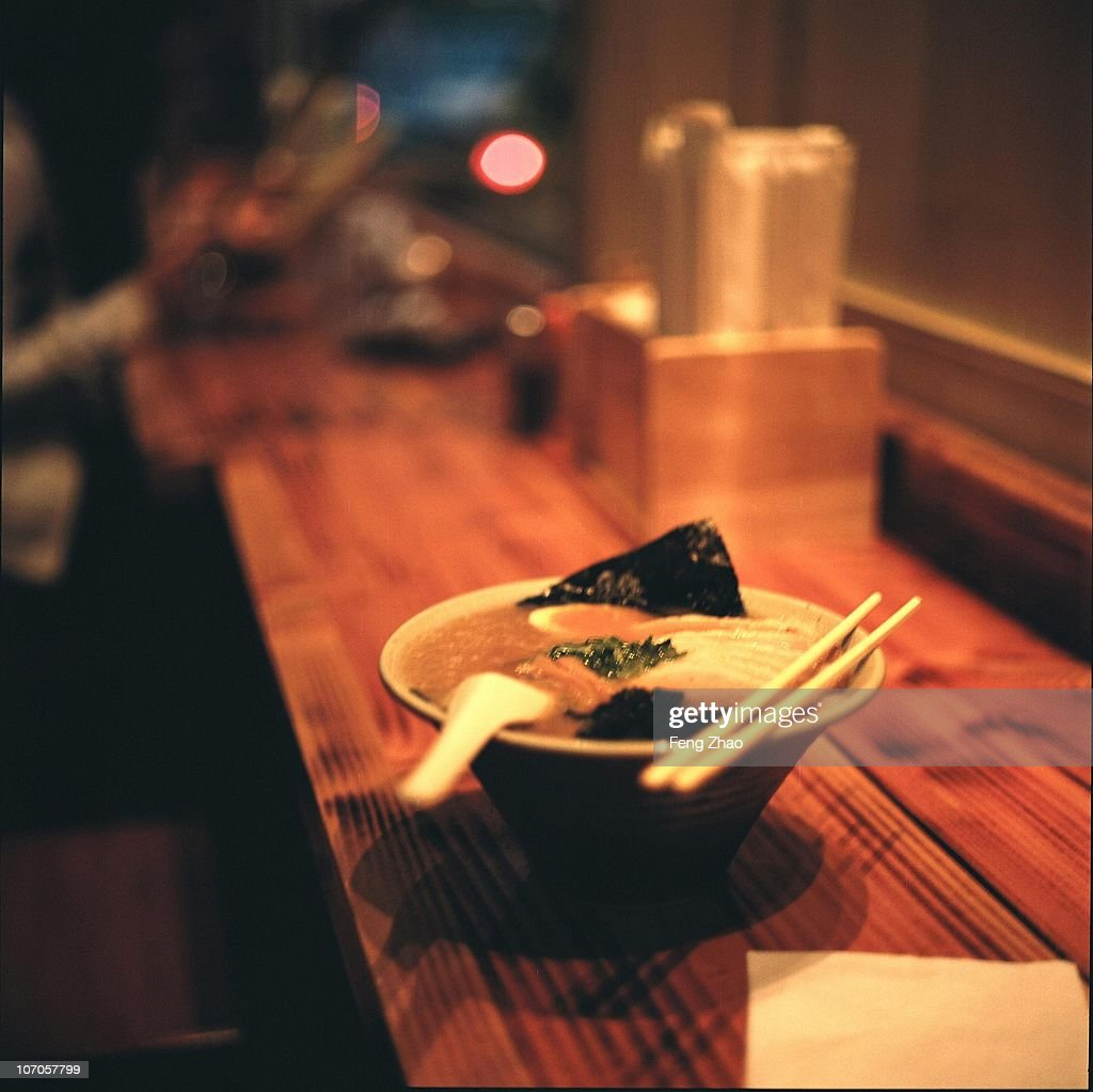 Bokeh and Ramen Meal : Stock Photo