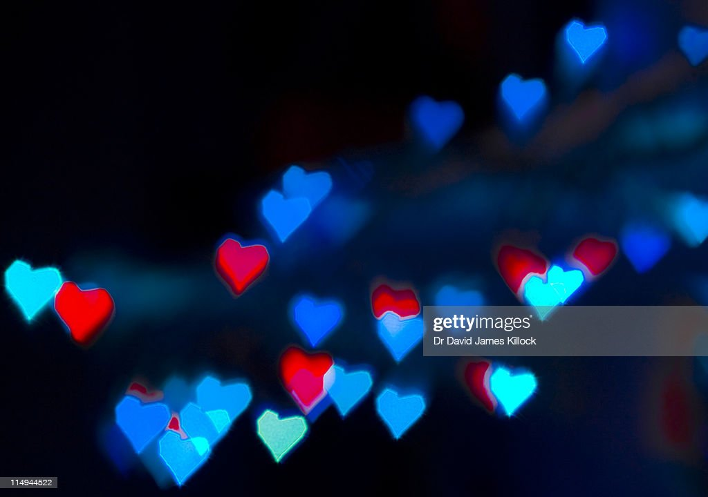 Bokeh hearts : Stock Photo