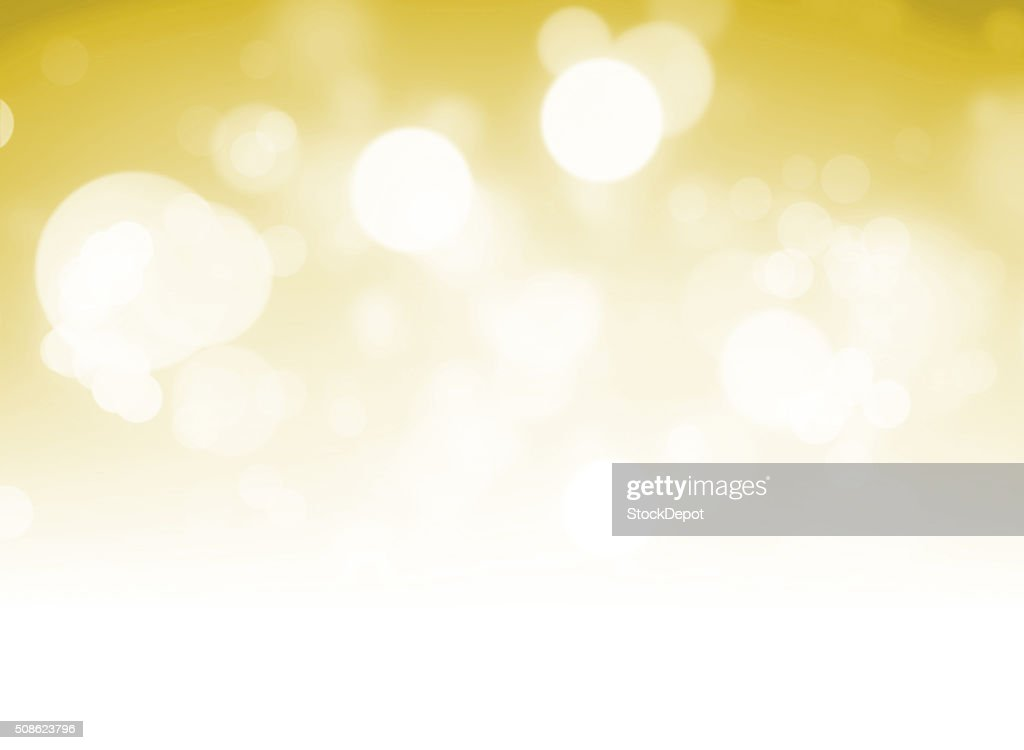 Bokeh Lights on a Yellow Background : Stock Photo
