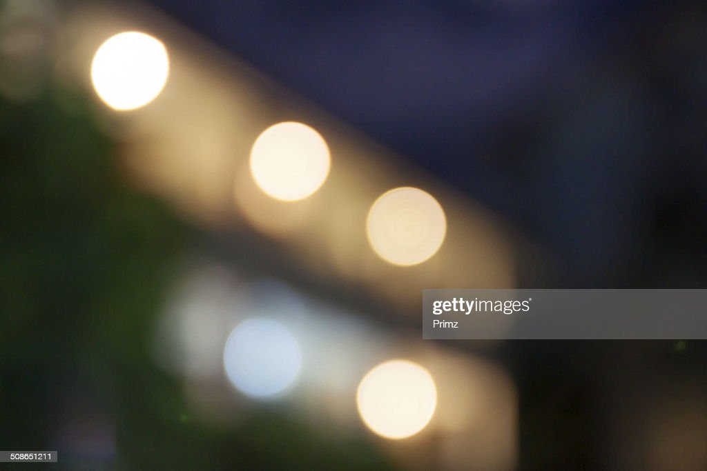 bokeh night light from buliding thailand : Stock Photo