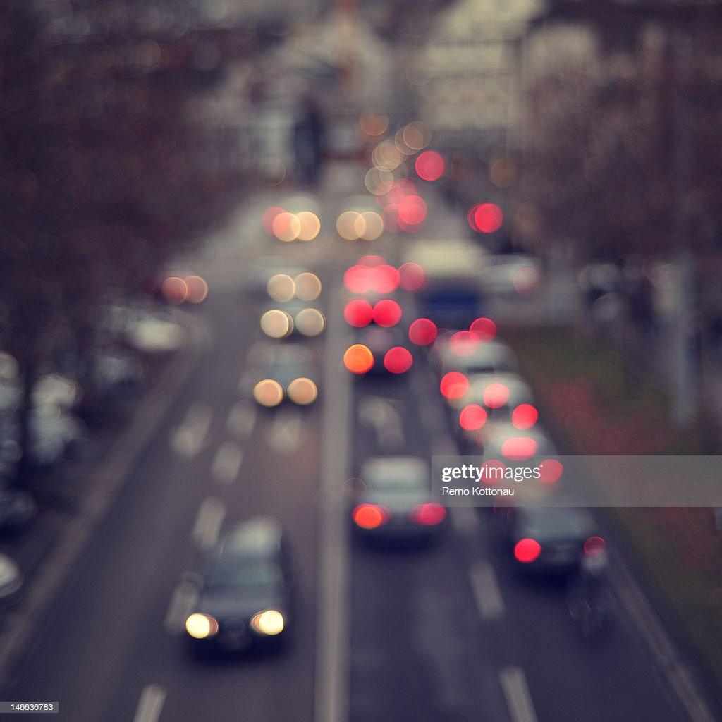 Bokeh of car lights : Stock Photo