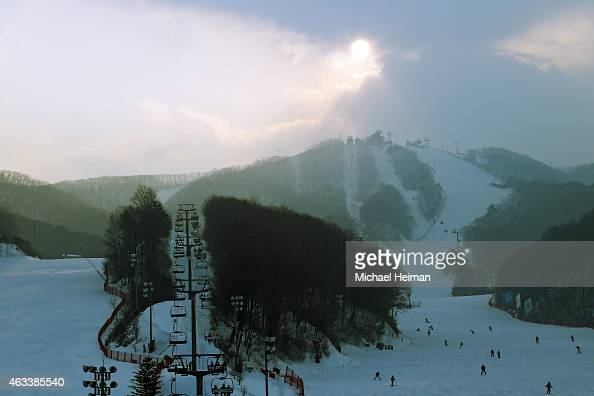 Bokwang Snow Park is seen on February 10 2015 located in the mountain cluster of Pyeongchang South Korea The region located in the northwest Taebaek...