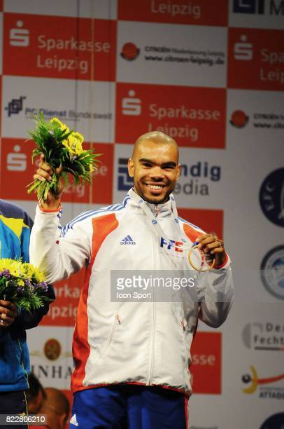 Bolade APITHY medaille de braonze au sabre Championnats d'Europe d'Escrime Leipzig Allemagne