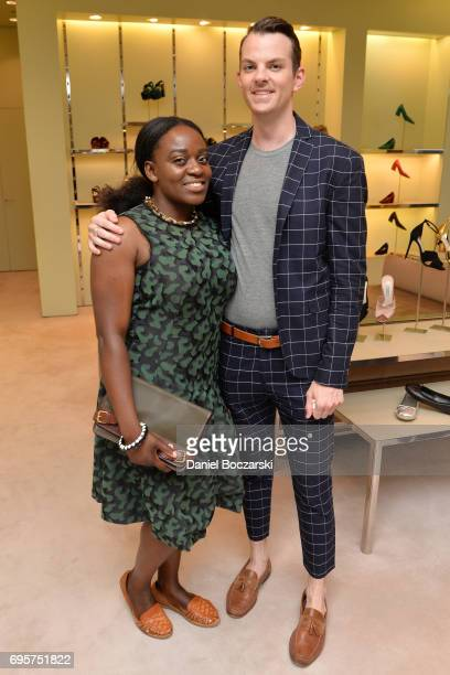 Bolaji Sosan and Aaron Shirley attend Prada Chicago x University Of Chicago Cancer Research Foundation Event at Prada Chicago on June 13 2017 in...