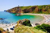 Bolata beach Bulgaria. Famous bay near Cape Kaliakra